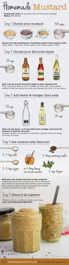 Making your own mustard has never been easier. Follow these 5 easy steps and get creative with your own flavours and voila - your own homemade mustard!