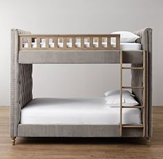 Chesterfield Upholstered Full-Over-Full Bunk Bed | All Beds | Restoration Hardware Baby & Child