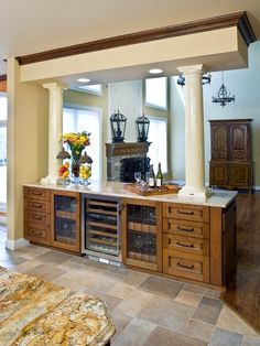 Kitchen Double Island Design, Pictures, Remodel, Decor And Ideas   Page 19  · Mediterranean KitchenHalf WallsRoom ...