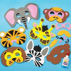 Jungle Animal Foam Mask Craft Kits