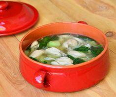 Tinolang Palaka-ginger flavored soup with frog legs (yes!), green papaya and spinach