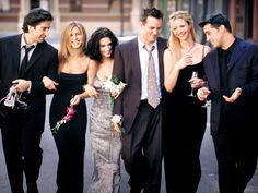 Friends. Great sitcom. Awesome cast. Left-to-Right: David Schwimmer(Ross Geller), Jennifer Aniston(Rachel Green), Courteney Cox(Monica Geller-Bing), Matthew Perry(Chandler Bing), Lisa Kudrow(Phoebe Bufay) and Matt Leblanc(Joe Tribbiani).