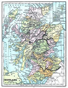 Roadmap Of Scotland Map Free Editable Uk