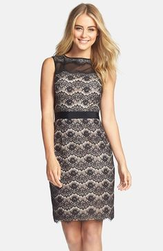 Maggy London Floral Lace Sheath Dress (Regular & Petite) available at #Nordstrom