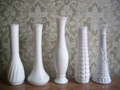 Vintage Milk Glass Vases {swoon}