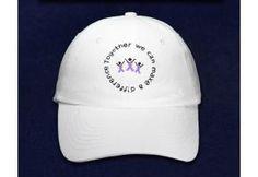 We Can make A Difference Purple Ribbon Baseball Hat - (HATDI-4W)