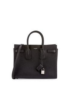 Sac de Jour Small Carryall Bag, Black (Noir) by Saint Laurent at Neiman Marcus.