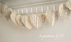 hearts paper garland  From weeded books?