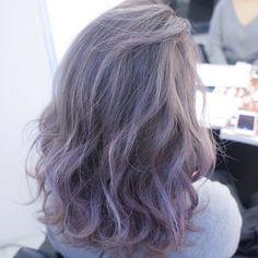 Cute Hair Colors, Hair Dye Colors, Hair Color Balayage, Ombre Hair, Kpop Hair Color, Types Of Hair Color, Kylie Hair, Silver Grey Hair, Dye My Hair