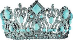 This is a photograph of the Marie-Louise diadem after its emeralds were replaced with Persian turquoise.