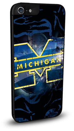 Michigan Wolverines Cell Phone Hard Case for iPhone 6, iPhone 6 Plus, iPhone 5/5s, iPhone SE, iPhone 4/4s or iPhone 5c