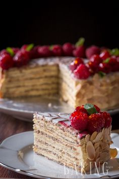 Esterhazy - Exceptional Hungarian cake made of Hazelnut Meringue and rich Custard Buttercream