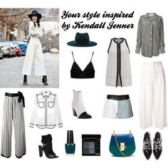 Your style inspired by Kendall Jenner by chammy83 on Polyvore featuring Helmut Lang, Gianfranco Ferré, DKNY, Proenza Schouler, Jean-Paul Gaultier, Each Other, T By Alexander Wang, Kenzo, French Connection and Chloé