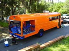 For the tailgaters out their that constantly dream of converting a school bus, check out Master Gator's ultimate tailgate ride. It might just inspire you to start searching Craigslist for the perfect bus.