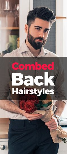 Combed back hairstyle is great for curls are well as straight hair. Here are 10 beard styles that suit this look. Modern Hairstyles, Latest Hairstyles, Straight Hairstyles, Girl Hairstyles, Gents Hair Style, Beard Styles For Men, Mens Style Guide, Body Motivation, Beards