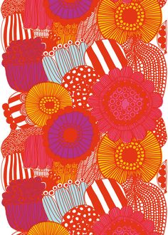 Why not use marimekko fabric to update your home decor . Marimekko fabric can be stretched over a frame to create a piece of wall art. Motifs Textiles, Textile Patterns, Textile Design, Fabric Design, Pattern Design, Textile Prints, Pretty Patterns, Color Patterns, Modern Patterns