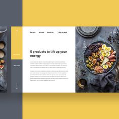 Découvrez ce projet @Behance : « Cooking blog article page » https://www.behance.net/gallery/59463833/Cooking-blog-article-page