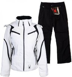 White and Black Womens Spyder Suit