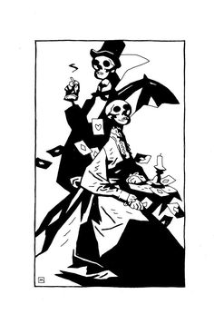 """""""Related to"""" the ECCC Monsters & Dames Art Book by Mike Mignola Mike Mignola, Monsters, Book Art, Darth Vader, Books, Fictional Characters, Libros, Book, Fantasy Characters"""