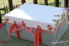 Make a cute shoebox picnic basket