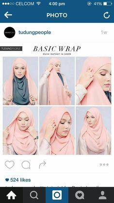 30 quick and easy simple hijab tutorials you can do Square Hijab Tutorial, Simple Hijab Tutorial, Hijab Simple, Pashmina Hijab Tutorial, Hijab Style Tutorial, Scarf Tutorial, Hijab Chic, Stylish Hijab, Hijab Casual