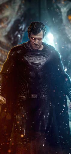 Superman Black Suit, Batman Comic Art, Batman And Superman, Superman Stuff, Zack Snyder Justice League, Justice League 2017, Superman Wallpaper, Avengers Wallpaper, Marvel Avengers Movies