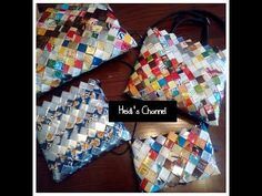 Como hacer carteras/bolso con bolsas de sabritas/Como hacer un bolso con...