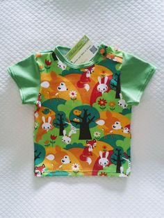 Tee-shirt en coton bio disponible en 6 et 9 mois sur http://bidoudoux.alittlemarket.com