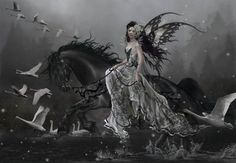 Welcome to the online artwork gallery of romantic artist Nene Thomas! Our site features a wealth of information about Nene Thomas, her artwork, and informative Fairy Pictures, Magical Creatures, Fantasy Creatures, Night Creatures, Mythological Creatures, Gothic Art, Gothic Chic, Fairy Art, Illustrations
