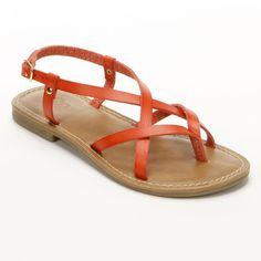 Paint the town coral. #sandals #Kohls