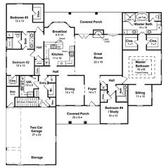 Image Of Large First Floor For House Plan 077D-0007
