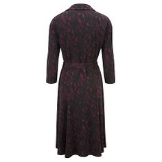 Buy Viyella Art Deco Print Dress, Black Online at johnlewis.com