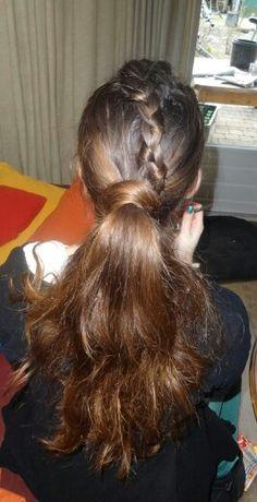 The braid wrap around ponytail