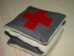 Vintage wool wheat bag - Red Cross
