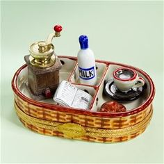 Limoges Coffee Breakfast Wicker Basket Box | The Cottage Shop