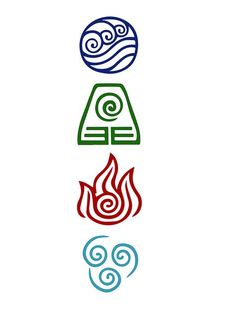 Avatar Four elements of Daljo - Avatar The Last Airbender - Tattoo Avatar Aang, Avatar The Last Airbender Art, Team Avatar, Avatar Tattoo, Element Tattoo, Small Tattoos Men, Small Celtic Tattoos, Kritzelei Tattoo, Body Art Tattoos