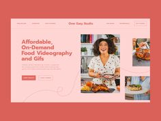One page Website for Over Easy Studio designed by Katya Kovalenko. Connect with them on Dribbble; One Page Website, Easy Work, Global Design, First Page, Looks Yummy, Presentation Design, Motion Design, Identity Design, Videography
