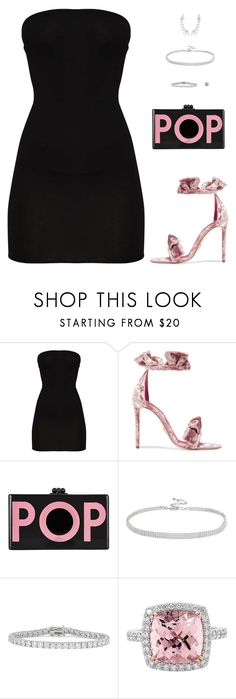 """Untitled #5230"" by mdmsb ❤ liked on Polyvore featuring Oscar Tiye, Edie Parker and Kenneth Jay Lane"