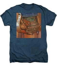 ART:  And Still Workin' Hard - By Will Barger ~~ Premium Adult/Unisex T-Shirt - 13 Available Colors in Sizes S-2XL - 50% Cotton & 50% Polyester - Machine washable. ~~ SHOWN HERE (rough mockup) on INDIGO HEATHER, with artwork zoomed in to fill maximum print width. You can resize/reposition to suit your tastes before ordering. Made to your order and shipped worldwide by our production partner, Fine Art America with a 30-day, money-back, no-questions-asked guarantee.