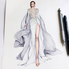 """8,114 Likes, 76 Comments - Eris Tran (@eris_tran) on Instagram: """"Check out my Haute Couture sketches on The March 2017 issue of @salysemagazine  Purchase issues on…"""""""