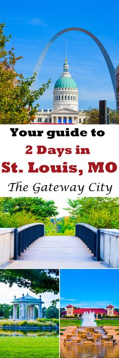 Enjoy 2 full days in St. Louis, Missouri full of city gardens, the famous zoo, a great kids museum for grown ups, good food, and a breathtaking view of the Mississippi River