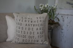 I Love You Everywhere Pillow by The Magnolia Mom | The Magnolia Mom