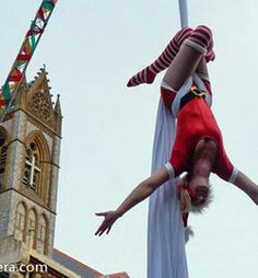 Christmas Acrobats  Let Aerial Entertainment spread some Christmas cheer at your event! With acrobatic elves and aerial Santa girls, we are sure to get your guests into the Christmas spirit!