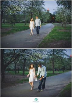 A stroll in Piedmont park hand in hand shows the endearing love the couple has for each other.
