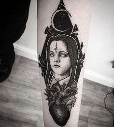 "56 Likes, 1 Comments - INK Poisoning (@ink_poisoning_) on Instagram: ""Wednesday Addams! _______________________________ F0LL0W: @merry_tattooer…"""