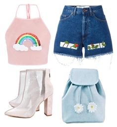 """""""Cute tumblr outfit"""" by unicorn-636 on Polyvore featuring Off-White, Boohoo and Sugarbaby"""