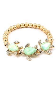 Sea Turtle Charm Bracelet