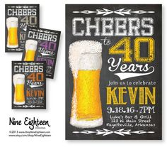 Cheers to 40 years 40th or any Birthday Party by NineEighteen