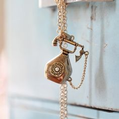 waiting by the telephone pendant necklace need