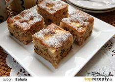 - My site Kale Crisps, Kolaci I Torte, Apple Cookies, Czech Recipes, Healthy Diet Recipes, Sponge Cake, Diet Meal Plans, Banana Bread, Sweet Tooth